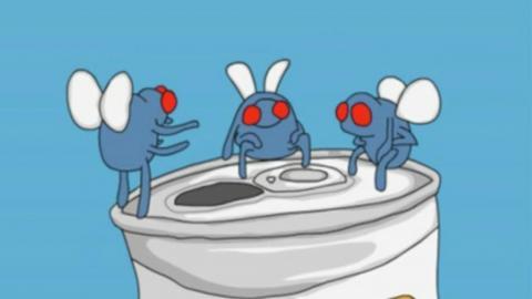 3 Drunk Flies - Joe Cartoon