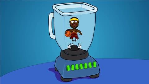 LeBron James in a Blender - Joe Cartoon
